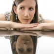 Woman showing emotions of doubts — Stock Photo #22325149