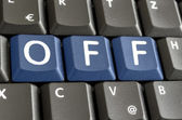 Off spelled on keyboard — Stock Photo