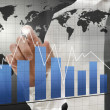 Interactive business graph — Stock Photo