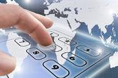 Navigating virtual telephone keypad — Stock Photo