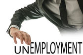 Turning the word Unemployment into Employment — 图库照片