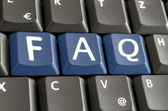 FAQ written with blue keyboard buttons — Stock Photo