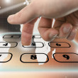 Stock Photo: Navigating virtual telephone keyboard