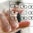 Virtual telephone keypad — Stock Photo