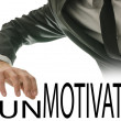 Changing word Unmotivated into Motivated — Stock Photo