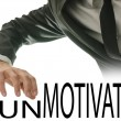 Stock Photo: Changing word Unmotivated into Motivated