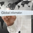 Global information written in search bar — Stock Photo