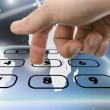 Foto Stock: Interactive telephone keypad