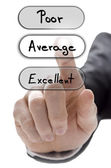 Choosing average on customer service evaluation form — Stock Photo