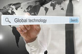 Global technology written in search bar — Stock Photo