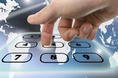 Interactive telephone keypad — Foto Stock