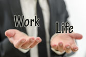 Balancing work and private life — Stock Photo