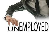 Changing word Unemployed into Employed — Stock Photo