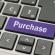 Purchase button on computer keyboard — Stock Photo