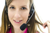 Portrait of customer service representative — Stock Photo