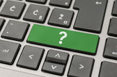 Question mark on computer keyboard — Stock Photo
