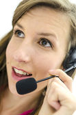 Portrait of young dispatcher — Stock Photo