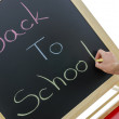 Stock Photo: Writing back to school
