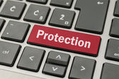 Protection key on keyboard — Stock Photo