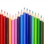 barevné tužky aby vlna — Stock fotografie
