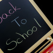 Back to school written in colors — Stock Photo