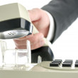 Picking up telephone receiver — Stock Photo #29903801
