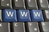 Www on computer keyboard — Stock Photo