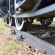 Detail of old steam train — Foto Stock