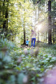 Mother and son enjoying in nature — Stock Photo