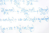 Complicada ecuación matemática — Foto de Stock