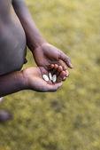 Fome e pobreza na África — Fotografia Stock
