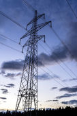 Electrical tower at dusk — Stock Photo