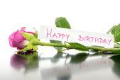 Happy birthday flower — Stock Photo