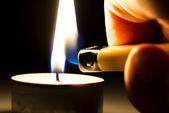 Tee mum ışığı — Stok fotoğraf