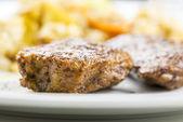 Vegetarian meal closeup — Stock Photo