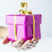 Caja de regalo de cumpleaños o navidad — Foto de Stock