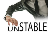 Changing word Unstable into Stable — Stock Photo