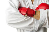 Kickboxer arms detail — Stock Photo