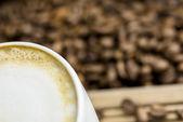 Cafe latte setting — Stock Photo