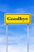 Goodbye roadsign — Stock Photo