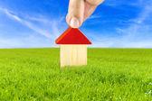 план дома в безопасной и чистой окружающей среды — Стоковое фото
