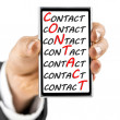 Contact center concept — Stock Photo
