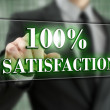 Hundred percent satisfaction — Stockfoto