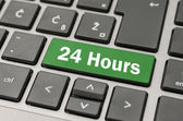 24 Hours button — Stock Photo