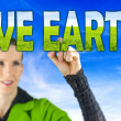 Stock Photo: Save earth
