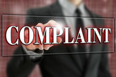 Complaint button on virtual screen. — Stock Photo