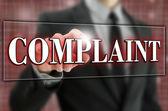Complaint button on virtual screen. — Stock Photo