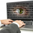 Stock Photo: Internet espionage