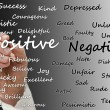 Stock Photo: Positive vs negative