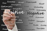 Positive vs negative — Stock Photo